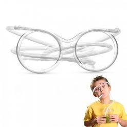 Drinking Straw Glasses - White