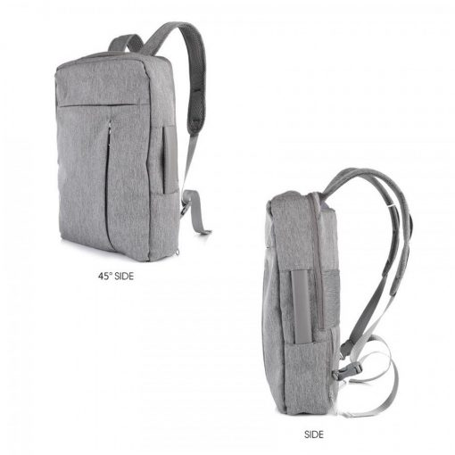 KELOE B01 Multifunction Water Resistant 15 Inch Laptop Backpack With USB Charger - Gray