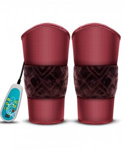 Electric Heating Knee Pads Warm Knee Massager - Maroon