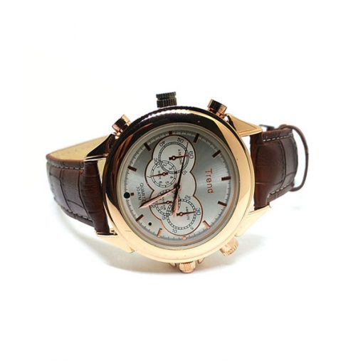 8GB MP3 Player DVR Water Resistant Spy Camera Watch - Brown