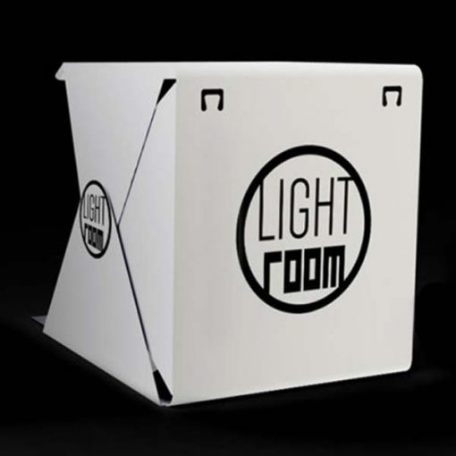Lightroom Foldable Mini Photo Studio With LED Light - White