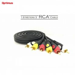 Optimus 1.8 Meters 3 RCA Cable - Black