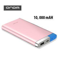 ONDA V100T 10,000 MAH POWERBANK WITH LIGHTNING AND MICRO USB INPUT - Pink