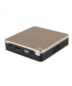 100 Lumens Mini DLP LED Wireless Pocket Projector - Gold