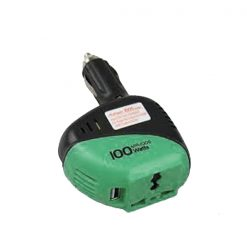 100 Watt Aukson Power Inverter DC to AC - Black/Green