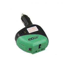 100 Watt Aukson Power Inverter DC to AC - Black/Green