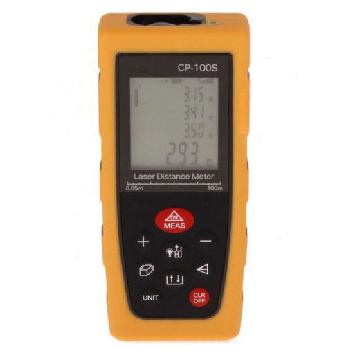 100 Meters Handheld Laser Distance Meter - Yellow