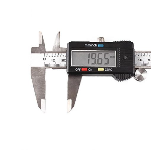 100mm Stainless Steel Digital Caliper - Black