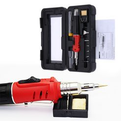 10 In 1 Multifunction Self Ignition Soldering Iron with Gas Torch Kit - Red