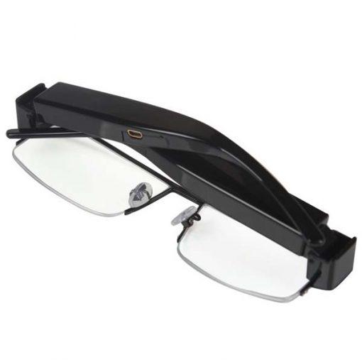 1080P Camera Half Rim Eyewear DVR Video Recorder - Black