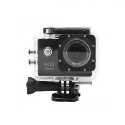 5MP Camera 1080P Video Camera Waterproof Sports Camera with 1.5 Inch LCD Monitor - Black