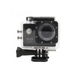 5MP Camera 1080P Video Camera Waterproof Sports Camera with 1.5 Inch LCD Monitor - Black