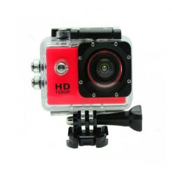 5MP Camera 1080P Video Camera Waterproof Sports Camera with 1.5 Inch LCD Monitor - Red