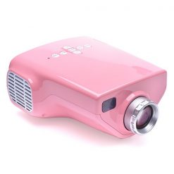 1080P Portable100 Lumens LED Overhead Projector with TV Tuner - Pink