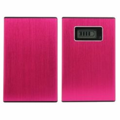 12000 mah Power Bank With 2 USB Port and LED Flash Light – Pink