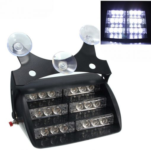 18 LED Flash Strobe Car Light - White