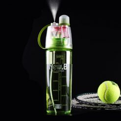 600ml Sport Water Bottle with Moisturizing Spray - Green