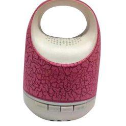 Mini Bluetooth Bucket Speaker With Light - Pink