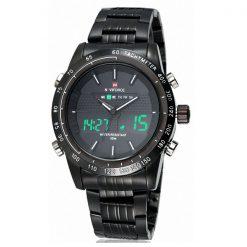 Naviforce NF9024 30M Waterproof Dual Mode Steel Watch With Naviforce Gift Box - Black/Black/White