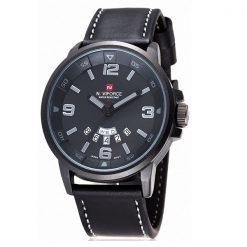 Naviforce NF9028 30M Waterproof Analog Watch - Black/Black/Gray