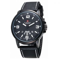 Naviforce NF9028 30M Waterproof Analog Watch  - Black/Black/White