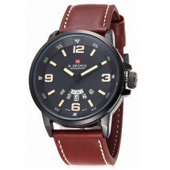 Naviforce NF9028 30M Waterproof Analog Watch - Black/Black/Yellow