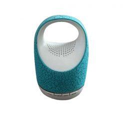Mini Bluetooth Bucket Speaker With Light - Blue