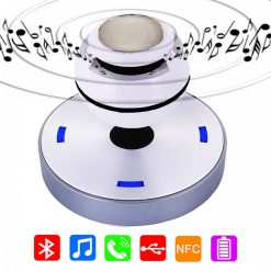 Magnetic Levitation Wireless Bluetooth Speaker - White/Black