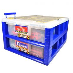 30 Slot Storage Box For Toy Car - Blue