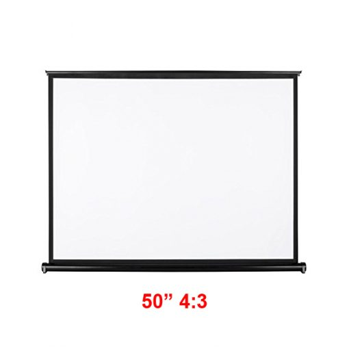 50 Inch 4:3 Pull Up Pull Down Projector Screen - Black