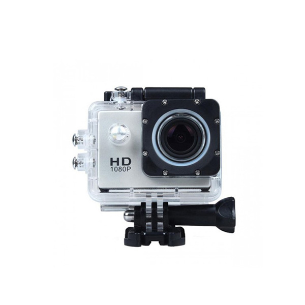 12 MP Photo Resolution 12 MP Image Sensor Action Camera with 1.5 inch LCD Monitor - Silver
