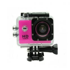 12 MP Photo Resolution 12 MP Image Sensor Action Camera with 1.5 inch LCD Monitor - Pink