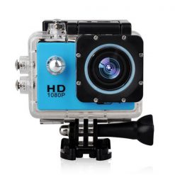 12 MP Photo Resolution 5MP Image Sensor  WIFI Action Camera with 1.5 inch LCD Monitor - Blue