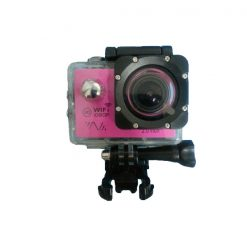 14MP Photo Resolution 12MP Image Sensor WIFI Action Camera with 2 Inch LCD Monitor - Pink