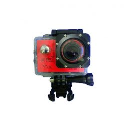 14MP Photo Resolution 12MP Image Sensor WIFI Action Camera with 2 Inch LCD Monitor - Red