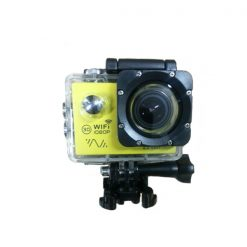 14MP Photo Resolution 12MP Image Sensor WIFI Action Camera with 2 Inch LCD Monitor - Yellow