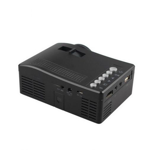 400 Lumens Handheld LED Projector - Black