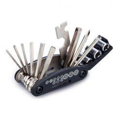 16 in 1 Multi Function Bike Bicycle Cycling Mechanic Repair Tool Kit - Black