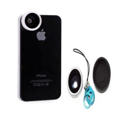 180 Degree Detachable Fish Eye Lens - Silver