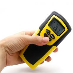 18 Meters Ultrasonic Distance Measurer Laser Pointer - Yellow