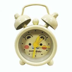 Mini Bell Alarm Clock - White