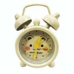 Mini Bell Alarm Clock - White