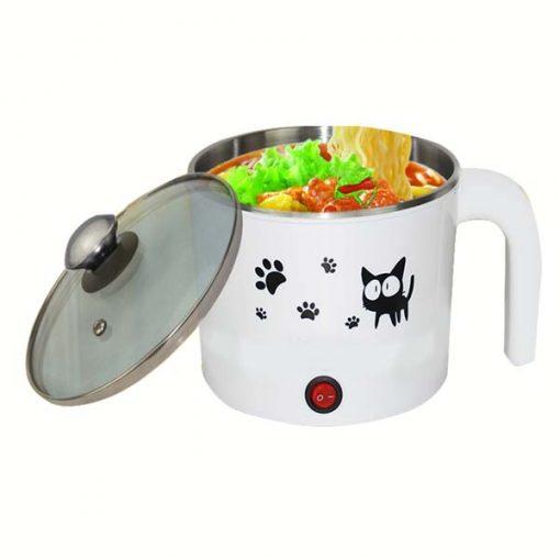 1Liter Mini Electric Cooker Pot - White
