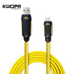 Data Line Armor Lightning USB Cable - Yellow