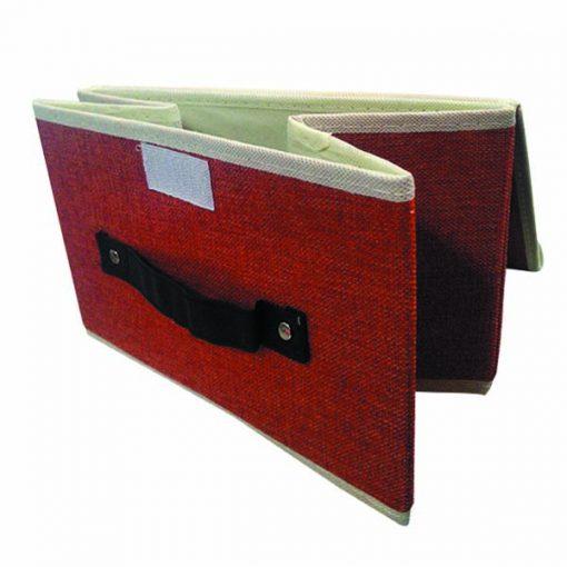Foldable Fabric Storage Box - Red