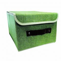 Foldable Fabric Storage Box - Green