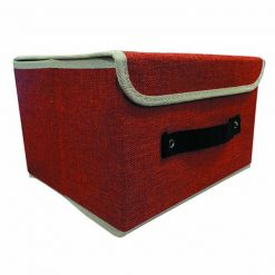 Foldable Fabric Storage Box - Red