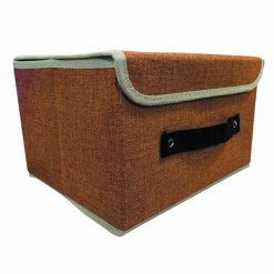Foldable Fabric Storage Box - Brown