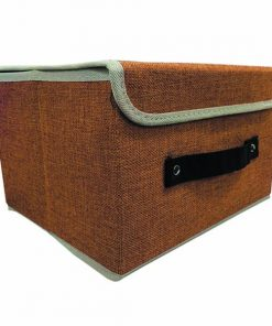 Foldable Fabric Storage Box - Brown