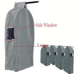 Clothes Hanger Cover Bag Garment Storage Size L - Grey